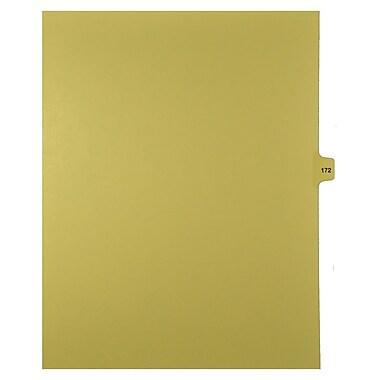 Mark Maker – Onglets séparateurs juridiques beiges, 1/15 onglets, format lettre, sans trous, numéro 172, 25/paquet