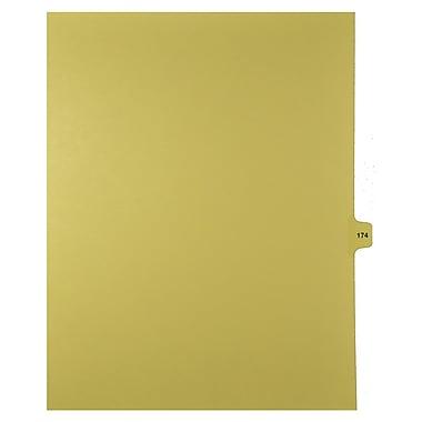Mark Maker – Onglets séparateurs juridiques beiges, 1/15 onglets, format lettre, sans trous, numéro 174, 25/paquet