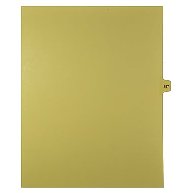 Mark Maker Legal Exhibit Index Tab Buff Single Tabs, 1/15th Cut, Letter Size, No Holes, Number 187, 25/Pack