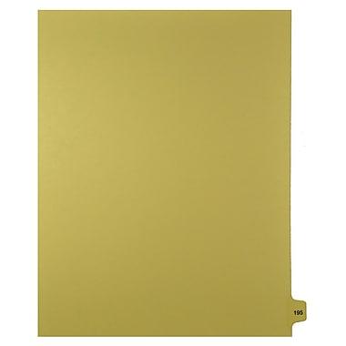Mark Maker – Onglets séparateurs juridiques beiges, 1/15 onglets, format lettre, sans trous, numéro 195, 25/paquet