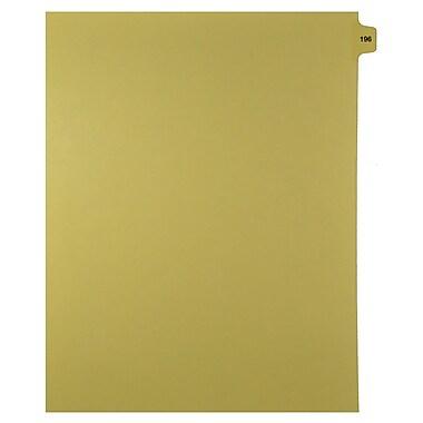 Mark Maker – Onglets séparateurs juridiques beiges, 1/15 onglets, format lettre, sans trous, numéro 196, 25/paquet