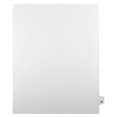 Mark Maker Legal Exhibit Index Tab White Single Tabs, 1/25th Cut, Letter Size, No Holes, Number 23, 25/Pack