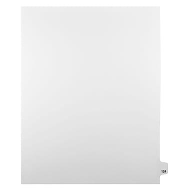 Mark Maker – Onglets séparateurs juridiques blancs, 1/25 onglets, format lettre, sans trous, numéro 124, 25/paquet