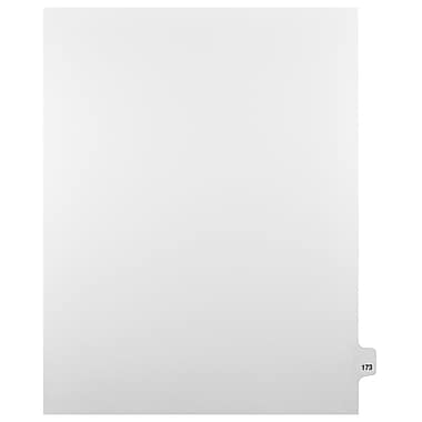 Mark Maker Legal Exhibit Index Tab White Single Tabs, 1/25th Cut, Letter Size, No Holes, Number 173, 25/Pack