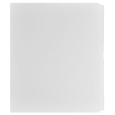 Mark Maker Legal Exhibit Index Tab Set of White Single Tabs, 1/25th Cut, Letter Size, No Holes, Blank