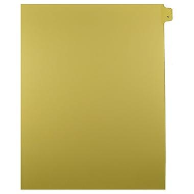 Mark Maker – Onglets séparateurs juridiques beiges, 1/25 onglets, format lettre, sans trous, numéro 1, 25/paquet