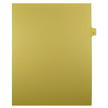 Mark Maker – Onglets séparateurs juridiques beiges, 1/25 onglets, format lettre, sans trous, numéro 7, 25/paquet