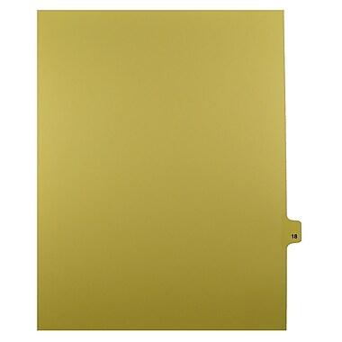 Mark Maker – Onglets séparateurs juridiques beiges, 1/25 onglets, format lettre, sans trous, numéro 18, 25/paquet