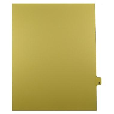Mark Maker – Onglets séparateurs juridiques beiges, 1/25 onglets, format lettre, sans trous, numéro 19, 25/paquet