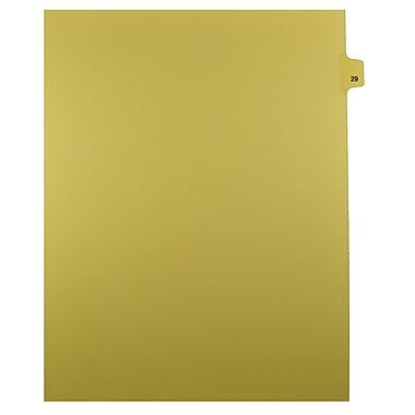 Mark Maker – Onglets séparateurs juridiques beiges, 1/25 onglets, format lettre, sans trous, numéro 29, 25/paquet