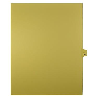 Mark Maker – Onglets séparateurs juridiques beiges, 1/25 onglets, format lettre, sans trous, numéro 64, 25/paquet