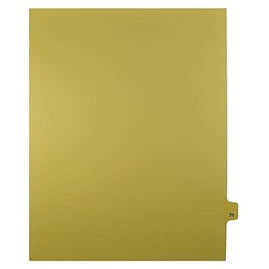 Mark Maker – Onglets séparateurs juridiques beiges, 1/25 onglets, format lettre, sans trous, numéro 71, 25/paquet