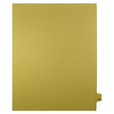 Mark Maker – Onglets séparateurs juridiques beiges, 1/25 onglets, format lettre, sans trous, numéro 73, 25/paquet