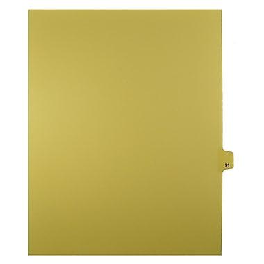 Mark Maker – Onglets séparateurs juridiques beiges, 1/25 onglets, format lettre, sans trous, numéro 91, 25/paquet