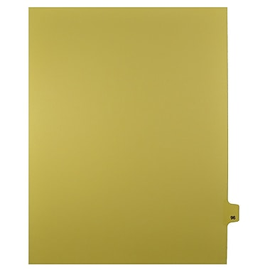 Mark Maker – Onglets séparateurs juridiques beiges, 1/25 onglets, format lettre, sans trous, numéro 96, 25/paquet