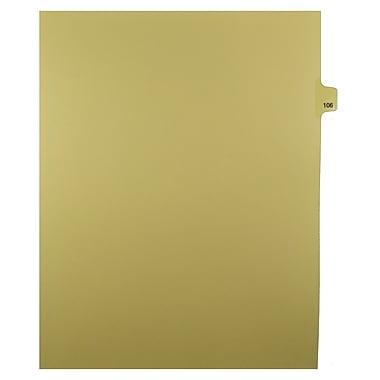 Mark Maker – Onglets séparateurs juridiques beiges, 1/25 onglets, format lettre, sans trous, numéro 106, 25/paquet