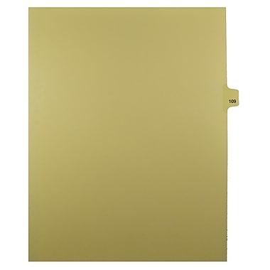 Mark Maker – Onglets séparateurs juridiques beiges, 1/25 onglets, format lettre, sans trous, numéro 109, 25/paquet