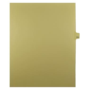 Mark Maker – Onglets séparateurs juridiques beiges, 1/25 onglets, format lettre, sans trous, numéro 110, 25/paquet