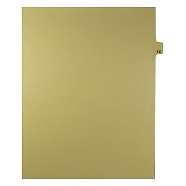 Mark Maker – Onglets séparateurs juridiques beiges, 1/25 onglets, format lettre, sans trous, numéro 131, 25/paquet