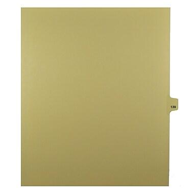 Mark Maker – Onglets séparateurs juridiques beiges, 1/25 onglets, format lettre, sans trous, numéro 139, 25/paquet