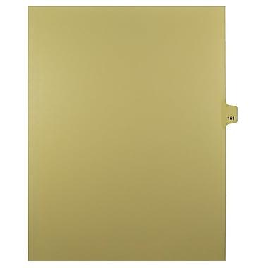 Mark Maker – Onglets séparateurs juridiques beiges, 1/25 onglets, format lettre, sans trous, numéro 161, 25/paquet