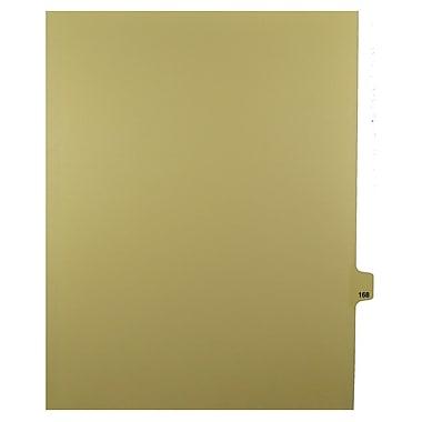 Mark Maker – Onglets séparateurs juridiques beiges, 1/25 onglets, format lettre, sans trous, numéro 168, 25/paquet