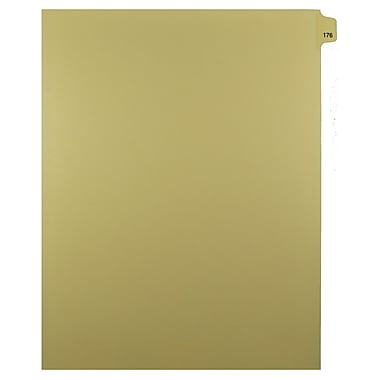 Mark Maker – Onglets séparateurs juridiques beiges, 1/25 onglets, format lettre, sans trous, numéro 176, 25/paquet