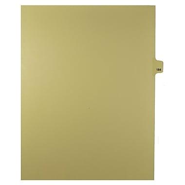 Mark Maker – Onglets séparateurs juridiques beiges, 1/25 onglets, format lettre, sans trous, numéro 184, 25/paquet