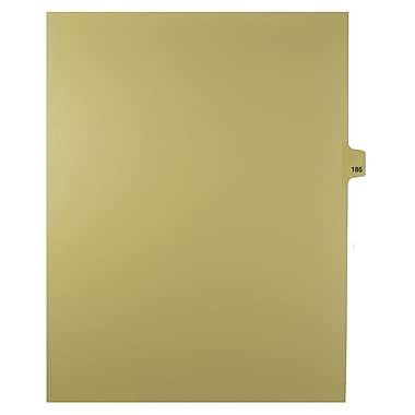 Mark Maker – Onglets séparateurs juridiques beiges, 1/25 onglets, format lettre, sans trous, numéro 185, 25/paquet