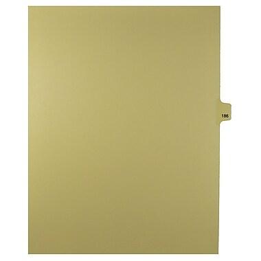 Mark Maker – Onglets séparateurs juridiques beiges, 1/25 onglets, format lettre, sans trous, numéro 186, 25/paquet