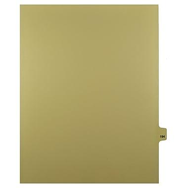 Mark Maker – Onglets séparateurs juridiques beiges, 1/25 onglets, format lettre, sans trous, numéro 194, 25/paquet
