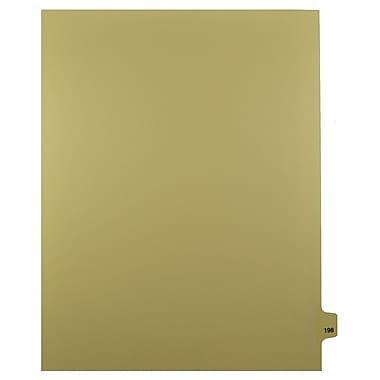 Mark Maker – Onglets séparateurs juridiques beiges, 1/25 onglets, format lettre, sans trous, numéro 198, 25/paquet