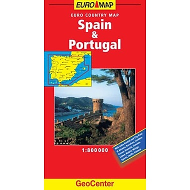 Spain and Portugal GeoCenter Euro Map (GeoCenter Euro Maps), Used Book (9783829764094)
