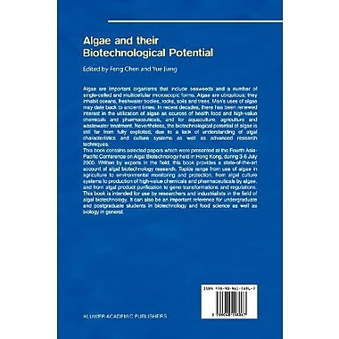 Algae and their Biotechnological Potential, New Book (9789048158867)