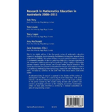 Research in Mathematics Education in Australasia 2008-2011, Used Book (9789460919688)