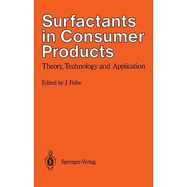 Surfactants in Consumer Products: Theory, Technology and Application, Used Book (9783642715471)
