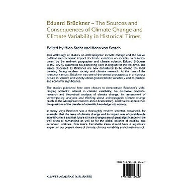 Eduard Bruckner - The Sources and Consequences of Climate Change and Climate Variability in Historical Times, New(9789048153817)