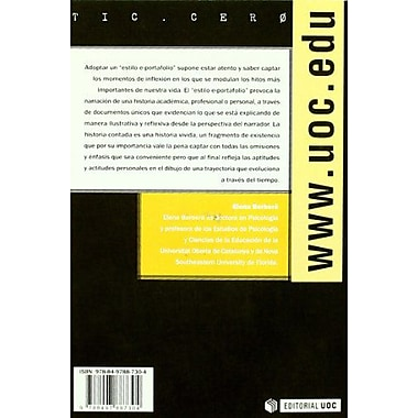 El estilo e-portafolio / The e-Portfolio Style (Tic. Cero) (Spanish Edition) (9788497887304)