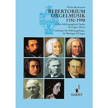 REPORTORIUM ORGELMUSIK 1150-1998 INDEX OF ORGAN MUSIC (9783795703585)