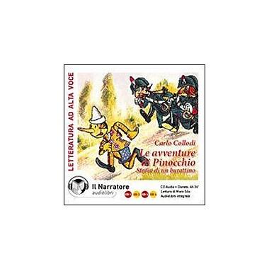 Le Avventure di Pinocchio: Storia di un Burattino (Unabridged 280 minute Reading in Italian) 4 CDs Audio, Used (9788888211312)