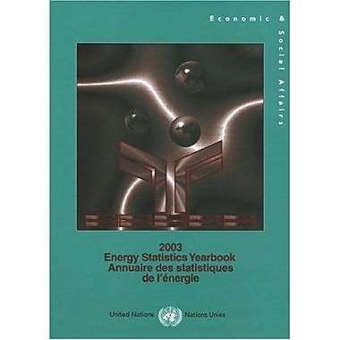 Energy Statistics Yearbook 2003 (Multilingual Edition), Used Book (9789210612180)