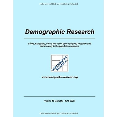 Demographic Research, Volume 18 (German Edition), Used Book (9783837031997)