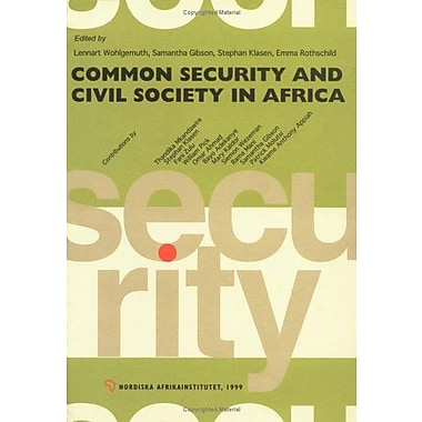 Common Security and Civil Society in Africa, New Book (9789171064509)