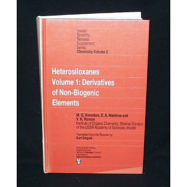 Derivatives of Non-biogenic Elements (Soviet Scientific Reviews Supplement Series, Section B), New Book (9783718648115)