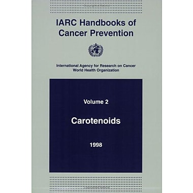Carotenoids (IARC Handbooks of Cancer Prevention), New Book (9789283230021)