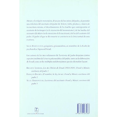 Escrituras del Asesinato - Freud y Moises (Spanish Edition), New Book (9788476283288)