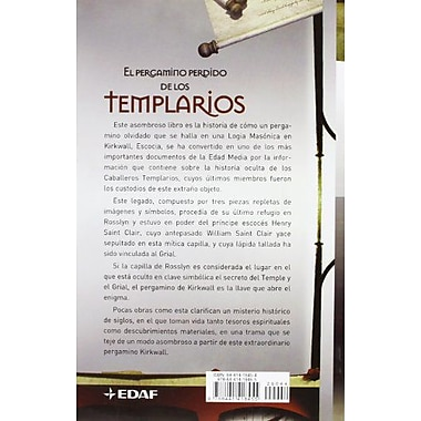 EL PERGAMINO PERDIDO DE LOS TEMPLARIOS (Spanish Edition), New Book (9788441418455)