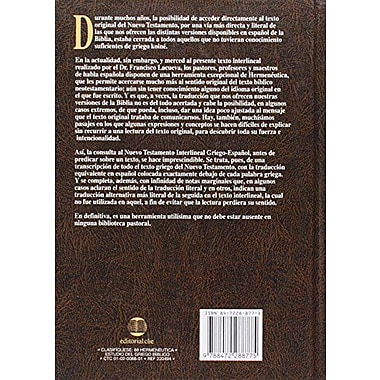 Nuevo Testamento interlineal griego-espanol (Spanish Edition), New Book (9788472288775)