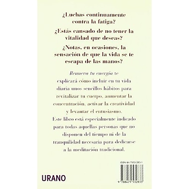 Renueva Tu Energia (Spanish Edition), New Book (9788479532833)