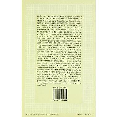 Introduccion a El Ser y El Tiempo de Martin Heidegger (Spanish Edition), New Book (9788437503394)